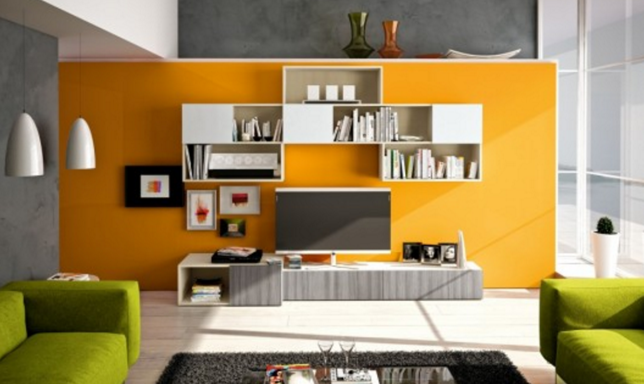 orange color living room designs housephotous orange feature wall